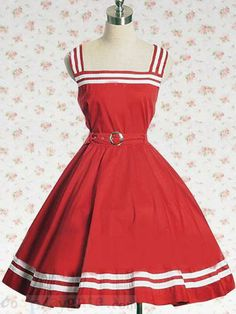 Red Sash Sleeveless Lolita Dress Free Shipping - wholesale Lolita Dresses - wholesale Lolita Clothing - CosplayGate.com
