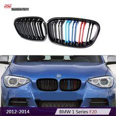 F20 F21 pre LCI Replacement Dual slat M tri color black bumper kidney grill for BMW 1 Series 2012 2013 2014 Hatchback