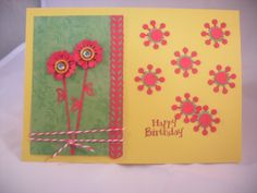 Yellow and Red Birthday Card.