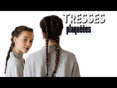 Tresses plaquées TUTO - YouTube