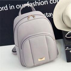 3157 women leather backpack schoolbag small backpacks for teenagers girls bag female backpack # AB01