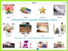 Alternative to Speech Therapy Cards-- The Quiet SLP