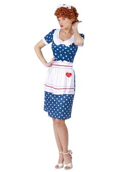 I Love Lucy Sassy Adult Costume $29.95 #halloween #costumes