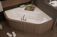 """MAAX EXHIBIT 60"""" x 60"""" ACRYLIC DROP-IN CORNER BATHTUB OPTIONAL SPA & WHIRLPOOL #MAAX"""