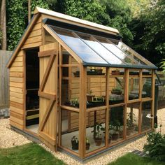 Garden design ideas: greenhouse   shed combo