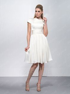 c71c987f7 Buy Bateau Neck Short Sleeves Knee Length Cocktail Dress Online