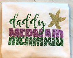 daddy mermaid merdad t-shirt shirt dad daddy and me little Mermaid Theme Birthday, 1st Birthday Girls, First Birthday Parties, Birthday Party Themes, Birthday Invitations, First Birthdays, Birthday Ideas, Pirate Birthday, Unique First Birthday Gifts