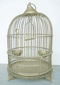 Solid brass Bird Cage !   $195.00 on Etsy from Jacquierae
