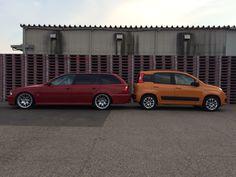 BMW E39ツーリングとFIAT パンダ お尻合わせ。