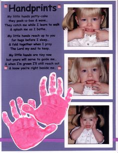 Handprints Mothers Day