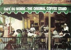 Pride of the French Quarter (N.O.L.A.) for coffee lovers!    http://img.discountpostersale.com/posters/TELAV137/1/Cafe-Du-Monde.jpg