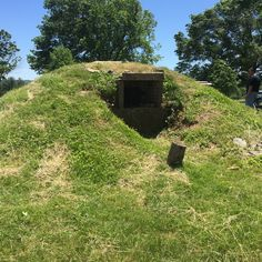 A large earthen oven at Valley Forge near soldier's quarters