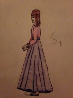sorry for the horrible lighting :P drawn by Emily (@Jesusandhobbits)