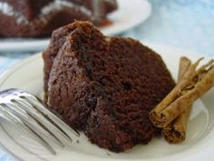 Cinnamon Chocolate Bundt Cake  from Food Librarian via Sing For Your Supper      1/2 cup butter     1 cup water     1/2 cup vegetable oil     5 tablespoons cocoa powder     2 cups flour     2 cups sugar     1/2 teaspoon salt     1/2 cup buttermilk     1 teaspoon baking soda     2 eggs, lightly beaten     1 1/2 teaspoons cinnamon     1 teaspoon pure vanilla extract  Preheat the oven to 375 degrees. Grease a large bundt pan with cooking spray.  Put butter, water, oil, and cocoa in a medium…