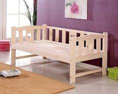 拼接床加宽床定做儿童床带护栏尾梯床实木床松木床架单人床双人床