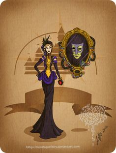 Disney steampunk: Evil queen by MecaniqueFairy on deviantART