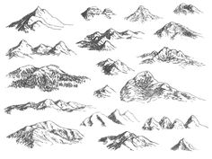 Pictures of mountains to draw mountain sketch mountain drawing simple drawings of mountains how to draw Mountain Sketch, Mountain Drawing, Pencil Drawings, Art Drawings, Simple Drawings, Fantasy Map Making, Rpg Map, Mountain Landscape, Sunrise Landscape