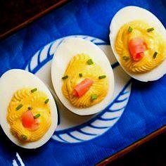 Wasabi devilled eggs