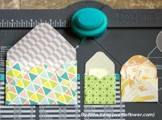 nina yang--making smaller envelopes with the envelope punch board
