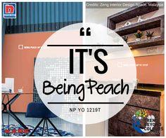 Tidak apa-apa untuk tampil beda. Pikiran positif mengalahkan pikiran negatif kapan saja! Pilihlah warna yang memberikan kesan ceria yaitu Being Peach NP YO 1219T karena melambangkan jiwa yang muda serta kegembiraan.
