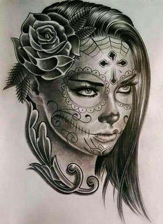 66 Trendy skull art tattoo sketches day of the dead tattoo designs ideas männer männer ideen old school quotes sketches Chicano Tattoos, Body Art Tattoos, Girl Tattoos, Sleeve Tattoos, Chicano Style Tattoo, Portrait Tattoos, Tatoos, Skull Girl Tattoo, Sugar Skull Tattoos