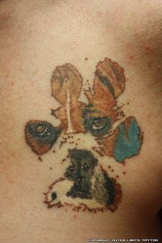 04 Most Beautiful Paw Print Tattoos Ideas Boxer Dog Tattoo, Dog Tattoos, Animal Tattoos, Body Art Tattoos, Girl Tattoos, Tattoos For Guys, Tatoos, Turtle Tattoos, Sleeve Tattoos