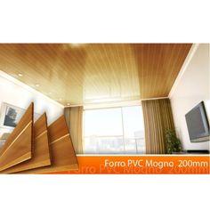 Forro Linear de PVC Polifort 8mm x 20cm x 6m (m²) Nogueira em Forro de PVC 6m na MadeiraMadeira