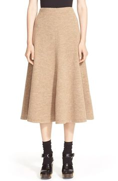 Rosetta+Getty+Flared+Wool+Midi+Skirt+available+at+#Nordstrom