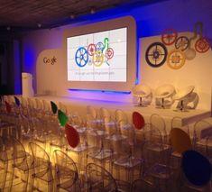 Resultado de imagen para google event Google Event, Chocolate Decorations, Stage Set, Brand Guidelines, Stage Design, Event Decor, Corporate Events, Backdrops