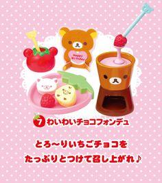 Re-Ment Rilakkuma Ichigo Sweets Party #7 Waiwai Choco Fondue
