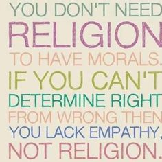 Empathy, not religion