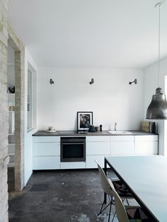 minimalism + raw materials. kitchen inspiration