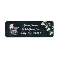 Chalkboard Baby Shower Address Labels