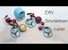 DIY Snowman millefiori cane - Polymer clay tutorial - YouTube