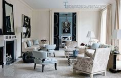 Interior designer David Kleinberg and architect Peter Pennoyer worked in obvious harmony to renovate this 1920s Italian Renaissance-style Park Avenue apartment. The couple wanted a timeless architecture with a modern interior.