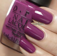 OPI Nail Polish Pamplona Purple such a pretty color Opi Nail Polish, Opi Nails, Nail Polish Colors, Nail Polishes, Dark Nail Designs, Colorful Nail Designs, Fancy Nails, Trendy Nails, Dark Nails