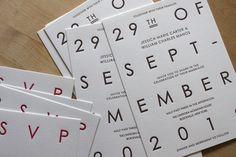 Moontree Letterpress, Big Day, wedding invitation, all-caps, block font, modern reel