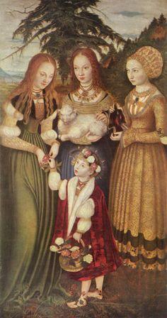 Katharinenaltar by Lucas Cranach ca. 1506