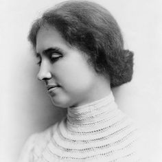 Helen Keller: Death is no more than passing from one room into another. But there's a difference for me you know. Because in that other room I shall be able to see. #HelenKeller #HumanNote