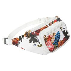 Brogan Floral Bum Bag-One Size ($13) ❤ liked on Polyvore featuring bags, multi, waist fanny pack, fanny bag, party bags, floral print bags and white fanny pack