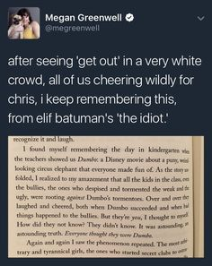 White people can- and should- enjoy Get Out, but remember to think about it, and check your privilege.<<< Or we could just shut the fuck up and just watch the movie and not think about politics or society right after. Angst Quotes, Thats The Way, The More You Know, Faith In Humanity, The Villain, In Kindergarten, Social Justice, Thought Provoking, Wells