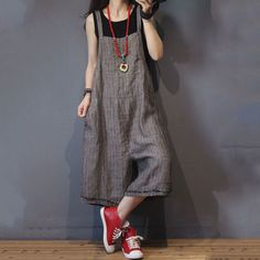 Gray Wide Leg Jumpsuits #linen #jumpsuits #rompers #ootd #gray #overalls