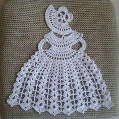 Best 12 Crinoline Lady Doily Crochet Pattern PDF Lady applique patterns Victorian Themed Ladies Diy craft i Motifs D'appliques, Crochet Doily Patterns, Applique Patterns, Crochet Doilies, Hand Crochet, Free Crochet, Lace Applique, Crochet Teacher Gifts, Crochet Gifts