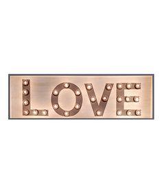 Look at this #zulilyfind! White & Gray 'Love' 42'' Marquee Light Sign #zulilyfinds