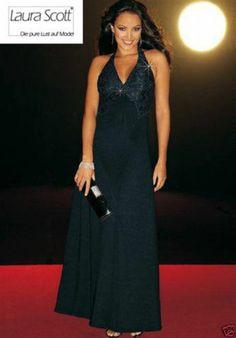 Abendkleid m. Pailletten, schwarz | eBay
