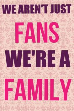 It's true all of us are not just Lindsey's fans but us stirlingites, we are a family!!! An together we can conquer any hardships we go through!!!!