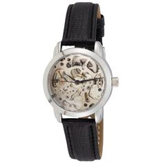 August Steiner Women's Skeleton Automatic Black Leather-Strap Watch   Overstock™ Shopping - Big Discounts on August Steiner August Steiner Women's Watches