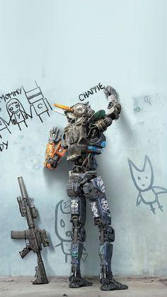 Chappie Robot Art Film Poster iPhone 8 Wallpapers