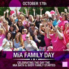 October 17th, 2012 was a monumental day for MíA Bath & Body even though our very first hostess, Tammy could not have known she was making history. She got 5 bookings from her party and signed up to be the first member of the MiA Bath & Body Family! That was the start of something amazing!