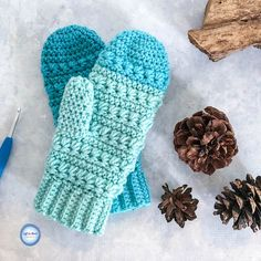 I wrote the Snow Drops Mittens pattern to match my Snow Drops Mod Scarf and Snow Drops Slouch Hat, and you will only need two cakes of your favorite Caron Cakes yarn to make all three!  Keep reading for the free crochet pattern AND star stitch in-the-round video tutorial.